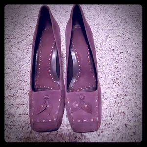 Jones New York brown suede heels